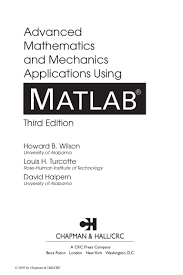 advanced mathematics using matlab third edition