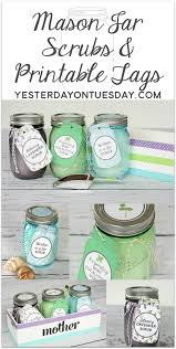Gift Idea For Mom Thirty Mason Jar Ideas For Mother U0027s Day Yesterday On Tuesday