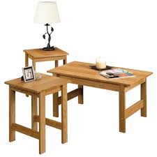 sauder coffee and end tables sauder beginnings highland oak 3 piece table set 412936