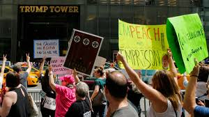 Trump Tower Residence Protest Outside Trump Tower Marks 100th Day In Office Nbc New York