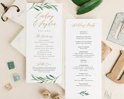 best wedding programs wedding programs etsy