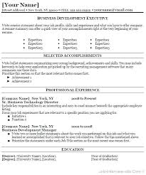 business resume templates resume template free collaborativenation