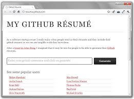 Git Resume My Github Resume Churchmag