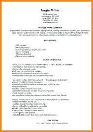 Babysitter Resume Template Babysitter Resume Example Writing Guide Resume Genius
