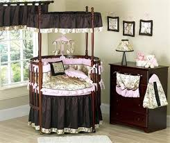 magnificent brown round baby crib nursery room in nursery room and