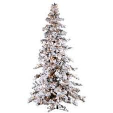 sterling 9 ft pre lit heavy flocked white spruce artificial
