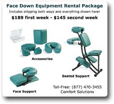 Medical Chair Rental Face Down Solutions Face Down Recovery Equipment