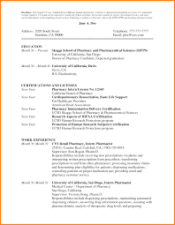 Resume Format For Freshers Pharma Job by Sample Resume For Freshers M Pharm Templates