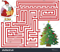 christmas maze children game stock illustration 149677751