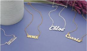 custom name necklaces groupon personalized name necklaces up to 67