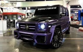 wrapped g wagon mbz g55 wald black bison wrapped in purple metallic matte brushed