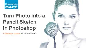 turn a photo into a pencil sketch in photoshop tutorial youtube