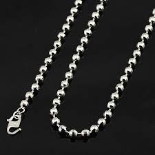 white gold bead necklace images 4mm white beads necklace link white gold plated chains wholesale jpg