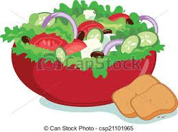 coloring breathtaking draw salad fresh greek clip