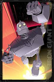 the iron giant check out this dynamic poster art for the iron giant from artist