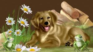 house dogs dogs house dog pets animals sitting free desktop animation dogs