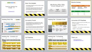 powerpoint marketing plan template u0026 conversion funnel