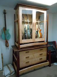 custom guitar cabinet makers built in media cabinet home decor maker depth plans cabinets ideas