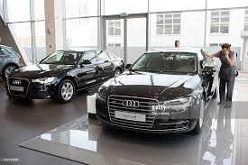 audi ag audi ag s flagship dealership as russia standoff continues photos