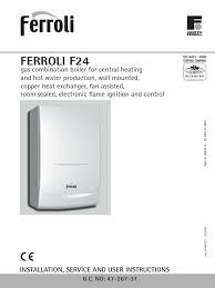 ferroli f24 manual pdf water heating thermostat