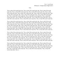 Mla Essay Format Template Written Essay Format