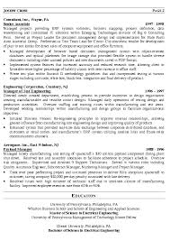 Sample Resume With Education by Sample Management Resume Berathen Com