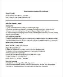 Marketing Manager Resume Sample Professional Manager Resume 49 Free Word Pdf Documents