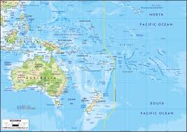 major cities of australia map large physical map of australia and oceania with major roads and