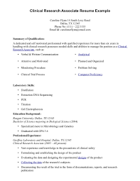 Market Research Resume Examples by Clinical Research Assistant Resume