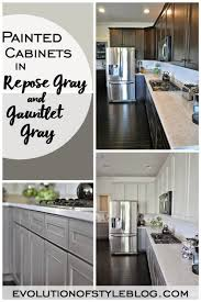 gray wall paint kitchen cabinets painted cabinets in repose gray and gauntlet gray