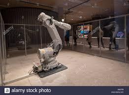 london uk 17 november 2016 industrial robot by abb robotics