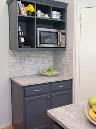 cabinets u0026 drawer farmhouse kitchen with gray corner open shelves