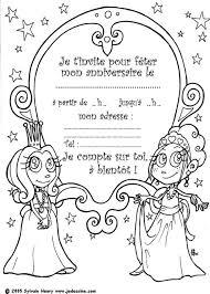 coloriages invitation princesse fr hellokids com