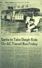 santa on ac transit oakland local