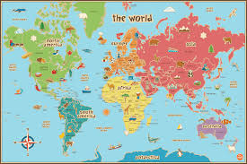 Online World Map by Printable Map Of World For Kids Kids Coloring Europe Travel