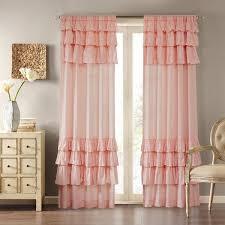 Curtains With Ruffles Park Joycelyn Cotton Oversized Ruffle Curtain Panel