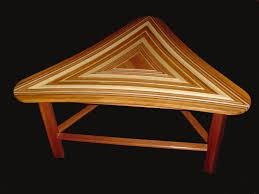 Triangular Coffee Table Crafted Triangle Coffee Table By Great Dane Woodsmith