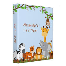 baby boy photo album safari jungle animal baby boy photo album 3 ring binder
