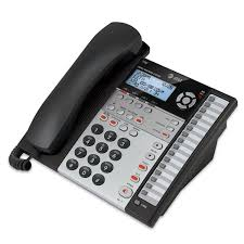 cortelco wall mount phone amazon com at u0026t 1070 4 line expandable corded phone system with