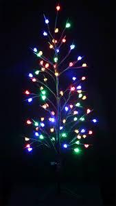 vickysun com 1 2m 77 led multi colours brown christmas bare tree