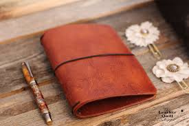 travelers notebook images Wild west leather quill travelers notebook 2 styles 13 sizes jpg