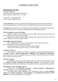 exle of resume objective resume of a librarian format of resume sle template exle
