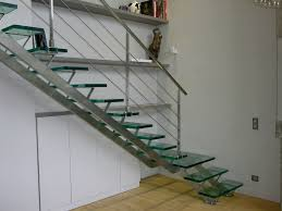 Metal Landing Banister And Railing Charming Stainless Steel Handrail With Glass Stairs Step And Cool
