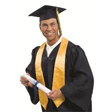 graduation gown convocation gowns graduation gown yellow sash style