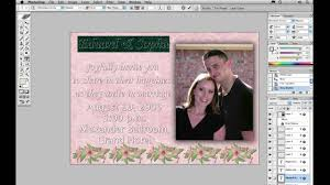 how to design invitation card in photoshop creating a wedding invitation photoshop tutorial youtube