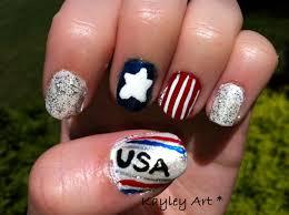 nail art idea cute 4th july nail art