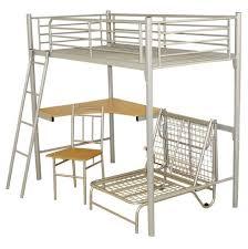 desks metal frame bunk beds with desk metal loft bed with desk