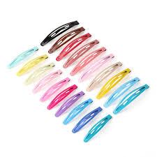 barrette hair clip random color printing women candy hair metal