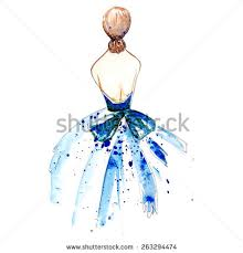 blue dress clipart prom dress pencil and in color blue dress