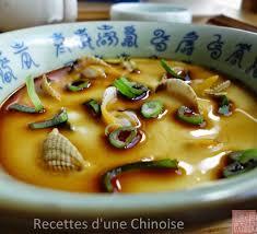 cuisine d une chinoise coques aux œufs à la vapeur 花蛤炖蛋 huāhǎ dùndàn recettes